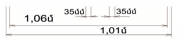 cack 1,01 metr